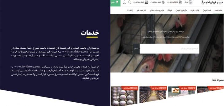 فروش اینترنتی تخم مرغ
