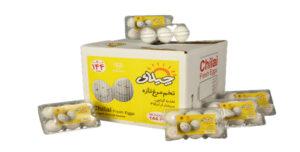 تخم مرغ بسته بندی  ۶ عددی  چیلای سفید