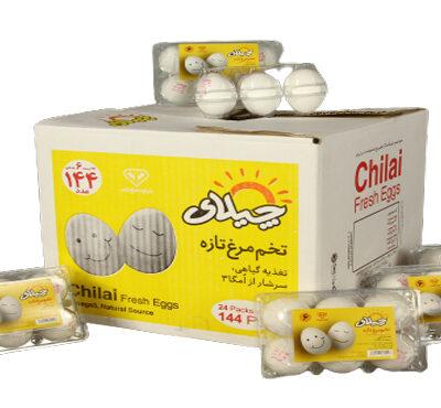 تخم مرغ بسته بندی 6 عددی چیلای سفید