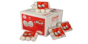 تخم مرغ بسته بندی  ۹ عددی  چیلای سفید