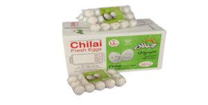تخم مرغ بسته بندی  ۱۵ عددی  چیلای سفید