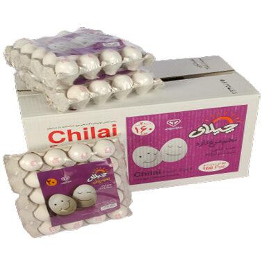 تخم مرغ بسته بندی 20 عددی چیلای سفید